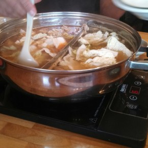 Taiwanese hot pot meal
