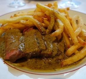 chicken liver or green peppercorn gravy, it's good