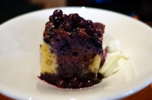 Wild blueberries finishing off the cake