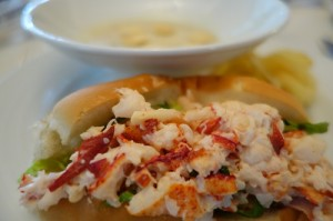 Fresh lobster with its own flavor