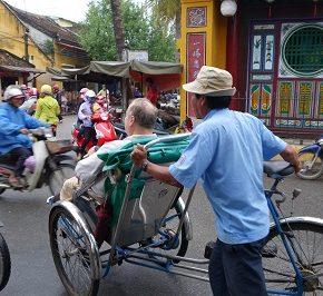 Rickshaw rides and massages in Hoi An, Vietnam