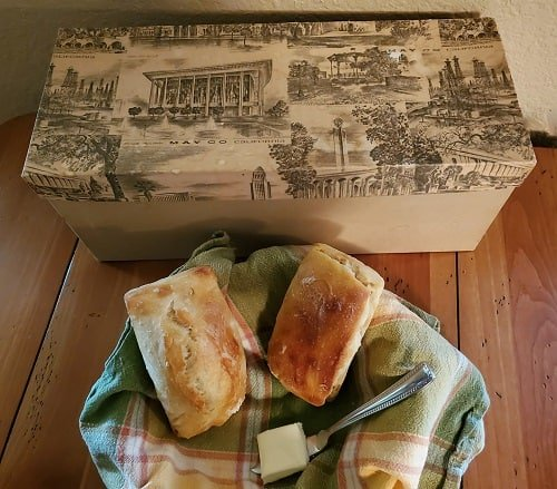 May Co box and mini bread loaves