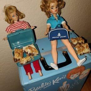 Barbie and Midge Dolls Eating During Quarantine