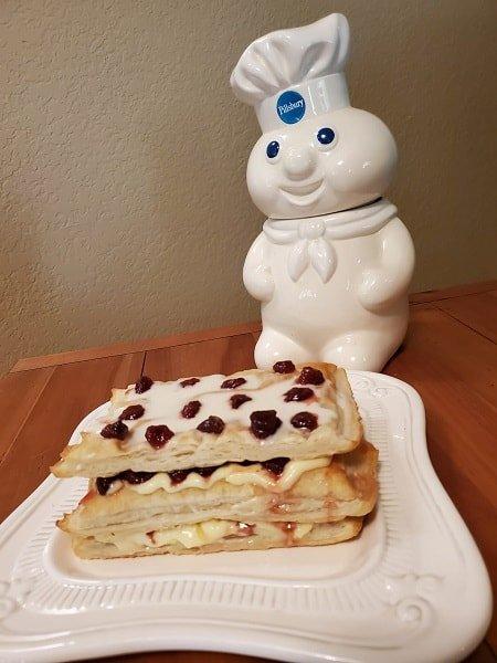 Pillsbury cookie jar and strawberry pastry