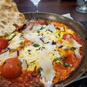 Spanish breakfast eggs and tomatoes