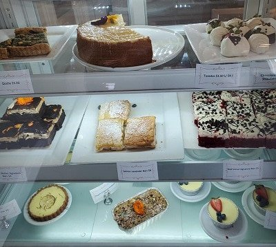 Bakery case full of treats to support at risk youth